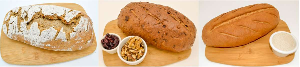 Magic Flavors Bread Variety Pack: Austrian 7 Spice Bread, Alaska Cranberry Walnut, German Landbrot