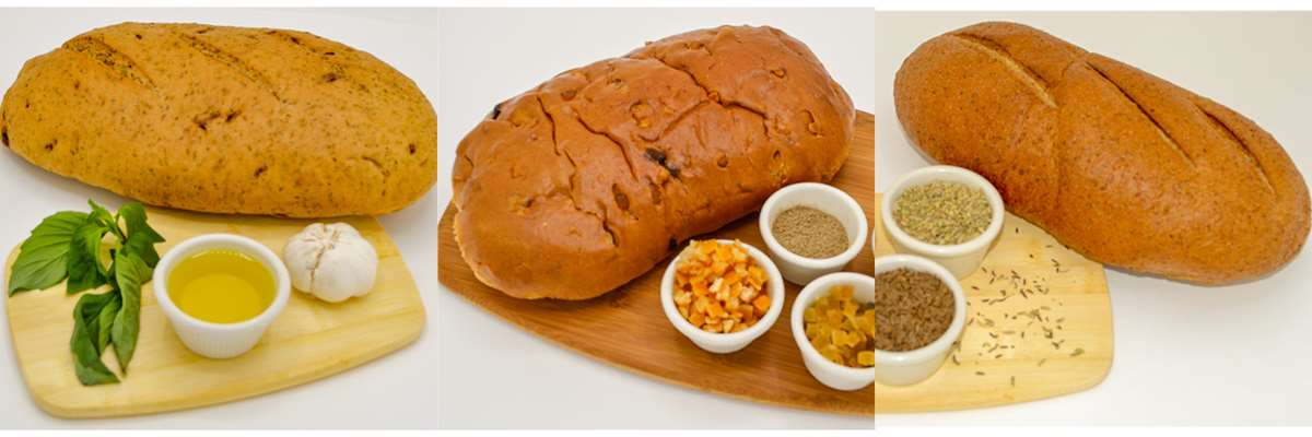 Magic Flavors Bread Variety Pack: Italian Farmers Bread, Norwegian Julekake, Czech Sourdough