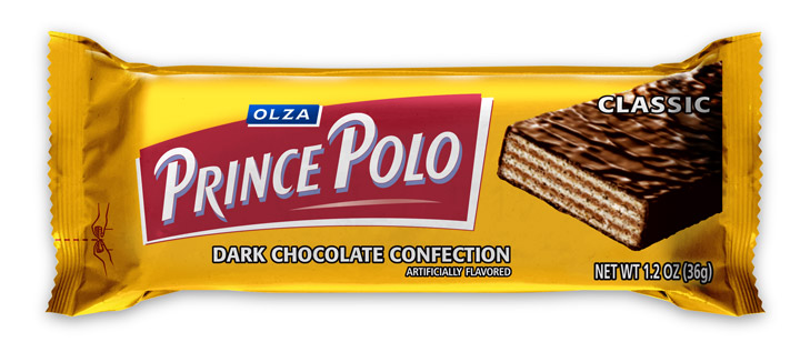 OLZA Prince Polo Classic Dark Chocolate Confection, 10-Count (1.76-Ounces) Bars