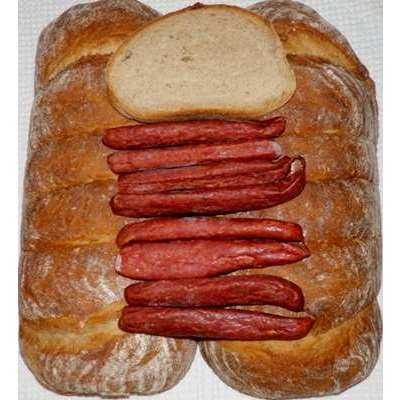 Landbrot - German Bread 48oz 2-pack PLUS 8 Landjaeger Sausages