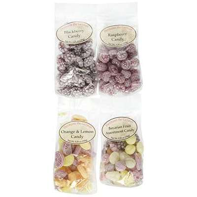 Hermann the German Variety Pack - Blackberry, Orange & Lemon, Raspberry, Assorted Fruit (5.29 oz each)