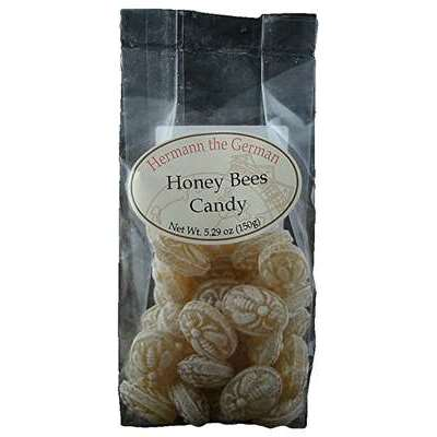 Hermann the German Bavarian Hard Candy, Honey Bees, 5.29 Oz