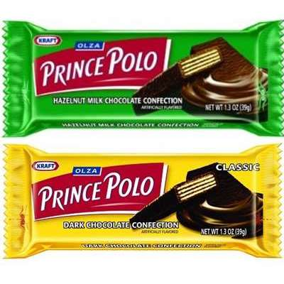 Assorted Olza Prince Polo Classic Dark Chocolate and Hazelnut Milk Chocolate Confection Pack of 10 36g Bars