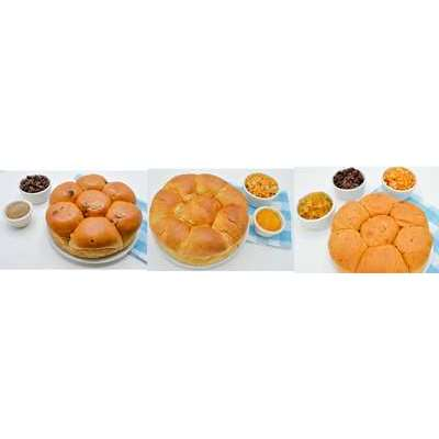 Magic Flavors Sweet Roll Variety Pack: Swedish Raisin, Bohemian Apricot, Norwegian Julekake