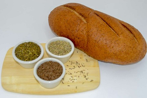 Magic Flavors<BR><FONT COLOR=#33cc33> Czech Caraway<BR> Sourdough Rye</FONT><BR> Bread