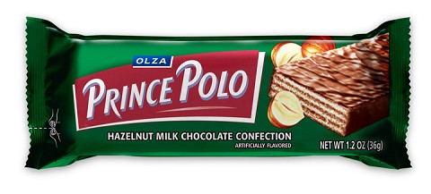 OLZA Prince Polo Hazelnut Milk Chocolate Confection, 10-Count (1.76-Ounce) Bars