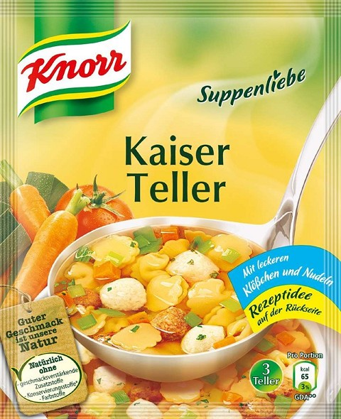 Knorr Suppenliebe Kaiser Teller (Emperor's Soup) 2x