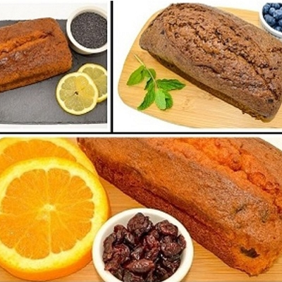 Magic Flavors Pound Cake Variety Pack: Blueberry Mint, Cranberry Orange, Lemon Poppy Seed