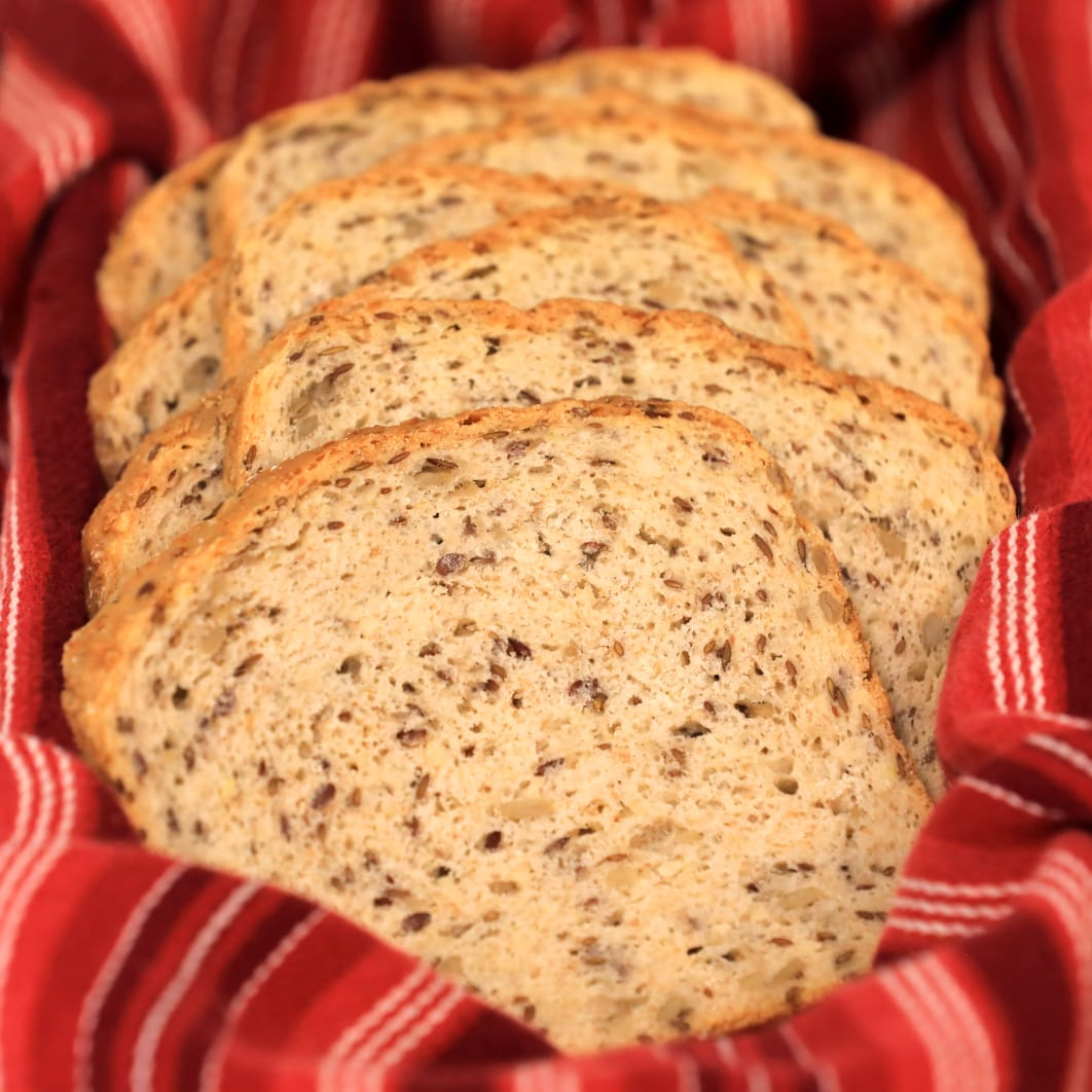 Seeded Harvest Bread - Sliced - by Magic Flavors