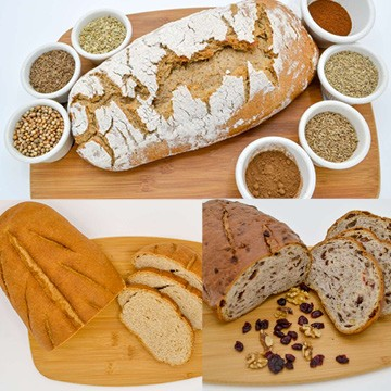 MF Variety Pack: Austrian 7 Spice, Cranberry Walnut, German Landbrot Breads