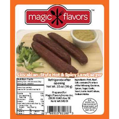 Magic Flavors Slovakian-Style Hot & Spicy Landjaeger (4-3pk)