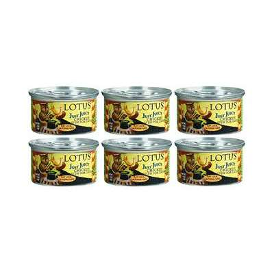 Lotus Just Juicy Chicken Stew Grain-Free Canned Cat Food 2.5 oz x 6 cans