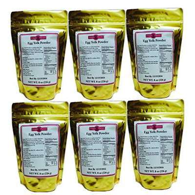 Egg Yolk Powder 8oz 6pk