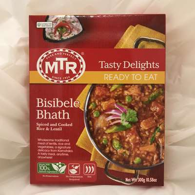 MTR Ready to Eat Bisibele Bhath Spiced & Cooked Rice & Lentils