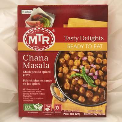 MTR Ready to Eat Chana Masala Chickpeas in Spiced Gravy