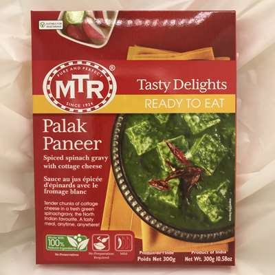 MTR Ready to Eat Palak Paneer Spiced Spinach Gravy with Cheese