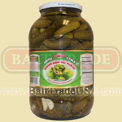 Balt Trade Kosher Baby Dill Pickles - 31.7 Oz (480 g)