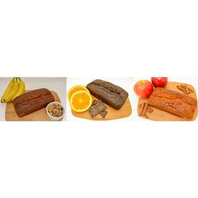 Magic Flavors Pound Cake Variety Pack: Banana Walnut, Chocolate Orange and Apple Cinnamon