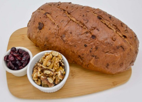 Magic Flavors Alaska Cranberry Walnut Sourdough Bread