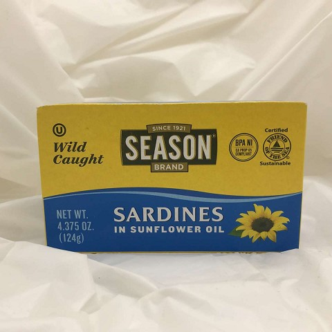 Season Wild Caught Sardines in Sunflower Oil