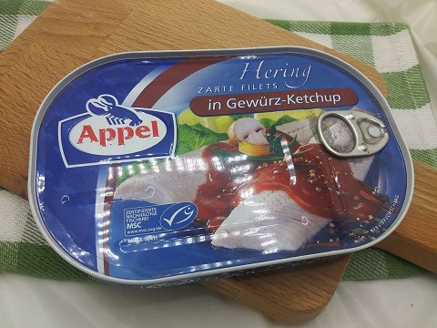 Appel Hering Zarte Filets in Gewürz-Ketchup (Herring Fillets in Spicy Ketchup)