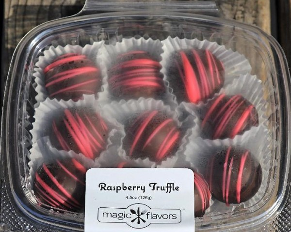 10 Dark Chocolate Raspberry Truffles  by Magic Flavors