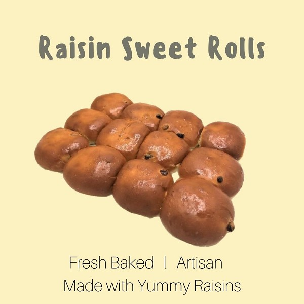 Sweet Rolls with Raisins 12ct  by Magic Flavors